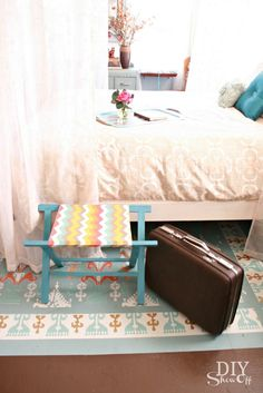 DIY foldable luggage rack, guest room