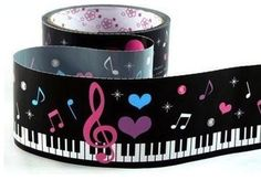 Piano keyboard music tape