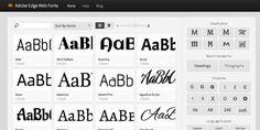 adobe-edge-web-fonts-plus-de-500-typos-pour-mettre-sur-vos-sites-internet Google Fonts, Adobe, Names, Service, Blog, Internet, Business, Letterpresses, Middle