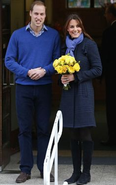 The Duke and Duchess of Cambridge pictured leaving the King Edward VII on December 6, 2012. Keep well Kate!