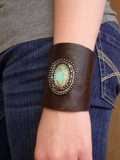 Handcrafted Leather Cuff by gremillionleather on Etsy, $200.00
