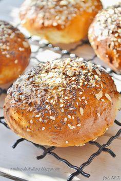 Bułeczki tureckie Buns, Hamburger, Rolls, Bread, Food, Brot, Essen, Bread Rolls, Baking