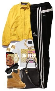 """""""Untitled #1450"""" by power-beauty ❤ liked on Polyvore featuring Polo Ralph Lauren, CO, Versace, H&M, Michael Kors, Illesteva, adidas, Timberland and Vince Camuto"""