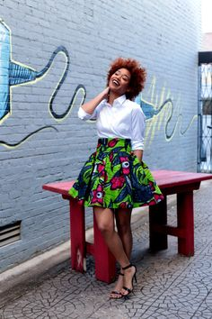 Mélange Mode focuses on incorporating the beautiful bold African Fabrics with the modern European fashion. Combining a mixture of these two worlds African Print Skirt, African Print Fashion, African Fabric, Ethnic Fashion, European Fashion, Modern Fashion, Ankara Fabric, African Prints, African Attire