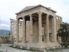 The Erechtheion began in 420 BC. Was built next to an old temple that was designed to be replaced by the newest Temple of the Acropolis. Santorini Tours, Greek Art, Acropolis, Tour Guide, Athens, Art History, Gazebo, Restoration, Outdoor Structures