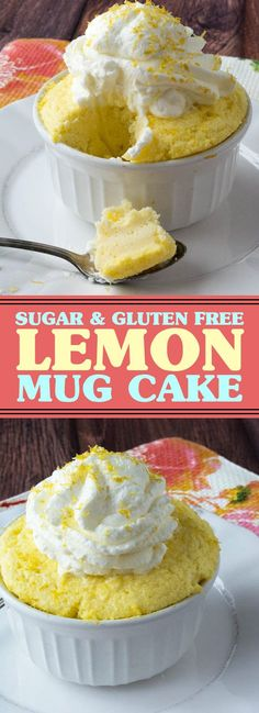 Sugar & Gluten Free Lemon Mug Cake | These Sugar Free Lemon Mug Cake are made low carb, gluten free, and a single serving for perfect portion control! #sugarfree #glutenfree #mugcake #cake #lowcarb | recipesrecipes.club