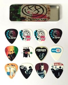 #Blink 182 #guitar pick tin includes 12 #guitar picks *limited #edition* , View more on the LINK: http://www.zeppy.io/product/gb/2/152292189984/