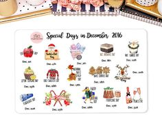 Special Days in December Wacky Holiday Stickers by StiandCo Agenda Planner, Happy Planner, Erin Condren, Wacky Holidays, Days In December, Calendar Stickers, Holiday Planner, National Days, Happiness Project
