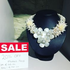 The continues in store today! We're all things statement today. This Fresh water pearl necklace is an absolute bargain within off the marked price. Freshwater Pearl Necklaces, Collar Necklace, Fresh Water, Jewelry Making, Jewellery, Pearls, Store, Handmade, Strand Necklace