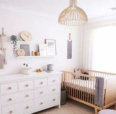 Baby Room Decorating Games – Turn your home into entertainment central with the help of these decorating ideas. A game room gives your home a dedicated area for fun, whether you use it for game… Baby Nursery Decor, Nursery Neutral, Baby Decor, Girl Nursery, Ikea Nursery, Natural Nursery, Nursery Dresser, Nursery Shelves, Baby Nursery Grey
