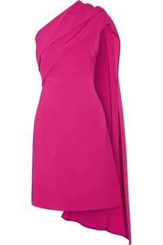 Fuchsia stretch-silk crepe Concealed hook and zip fastening at side 70% silk, 26% polyamide, 4% elastane Dry Clean Made in Italy