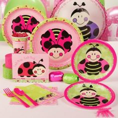 LadyBugs: Oh So Sweet 1st Birthday Standard Party Pack for 16 Party Supplies