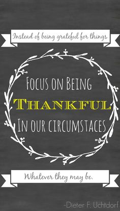 be thankful in our circumstances