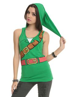 Search For Adventure With This Legend Of Zelda Link Hooded Tank Top
