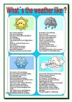 Summary of weather vocabulary.  - ESL worksheets