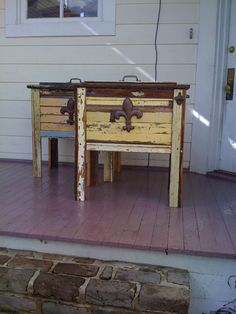 """Katrina Cooler"" made of wood from homes that were affected by Hurricane Katrina $345"