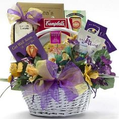 Art of Appreciation Gift Baskets Get Well Soon Gourmet Food Basket idea. Generic enough for another occassion. Movie Basket Gift, Movie Gift, Get Well Gift Baskets, Diy Gift Baskets, Gourmet Gifts, Food Gifts, Holiday Gift Baskets, Holiday Gifts, Silent Auction Baskets