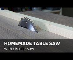 DIY: Homemade Table Saw With Circular saw (video)