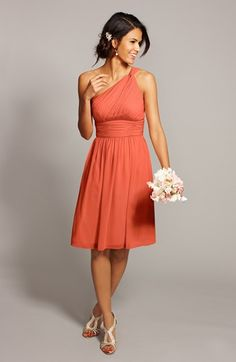 Too orange? Nordstrom | Donna Morgan 'Rhea' One Shoulder Chiffon Dress