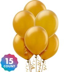 Gold Pearl Balloons 15ct Party City