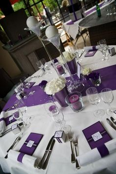 wedding table decorations 603975000008935751 - Wedding table settings purple simple centerpieces 15 Ideas Source by Purple Wedding Tables, Wedding Table Setup, Wedding Table Settings, Wedding Themes, Wedding Reception, Wedding Ideas, Purple Wedding Centerpieces, Wedding Colors, Wedding Flowers