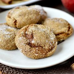 Soft Batch Apple Cider Gingersnap Cookies are soft, chewy and apple-cider spiked. Easily made gluten-free!