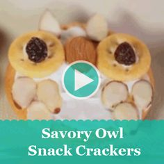 Kids will get a hoot out of these nutty cream cheese-topped crackers. See how easy they are to make!
