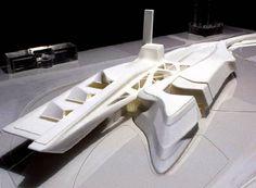 Zaha Hadid's model for the Guggenheim Museum Taichung, Republic of China