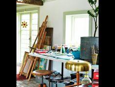 Artstudio and work space / Photo: Peter Carlsson