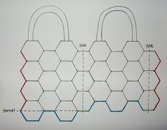 how to: make a hexagon crochet bag Patchwork Hexagonal, Hexagon Quilt, Hexagon Pattern, Crochet Motif, Crochet Stitches, Crochet Patterns, Hexagon Crochet, Flower Crochet, Sewing Patterns