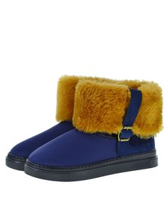 Scuba Neoprene Fabric Everest Air winter boots. Model style: Neo-Navy Gigi