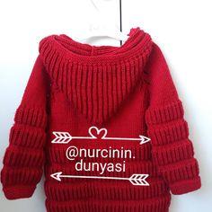 Kırmızı hırka Knitting For Kids, Baby Knitting Patterns, Knitting Projects, Moda Emo, Diy Clothes, Bridal, Kids Outfits, Stitch, Tulum