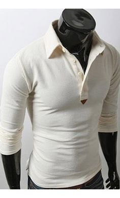 Beige slim fit contrast polo