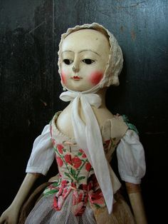 Wooden Queen Anne Dolls and Izannah Walker Dolls  by Doll maker Sonia Krause  1861NewEngland-Dolls