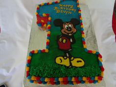 Who wouldn't love this, a Mickey Mouse Number 1 Cake for a special little boy. June 7, 2014.