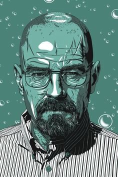 Chris Morkout y su Fanart Walter Breaking Bad, Breaking Bad Art, Vector Portrait, Portrait Art, Beaking Bad, Hip Hop Art, Walter White, Portrait Illustration, Character Illustration
