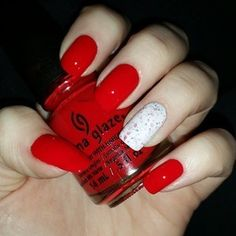 Christmasy nails already! @chinaglazeofficial Hey Sailor(more red in person) with a crelly I made.  #chinaglaze #crelly #franken #nailpolish #polish #nails #notd #christmasnails #mani #nailart #instanails #nailsofinstagram #nailporn #julepswap #polishaa