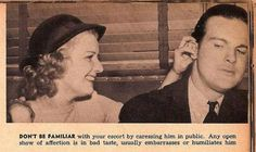 vintage everyday: 13 Hilarious and Sexist Dating Tips for Single Women from 1938