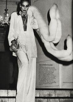 Jerry Hall in Interview magazine, circa 1975