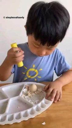 Diy Crafts For Kids Easy, Preschool Arts And Crafts, Paper Crafts For Kids, Toddler Crafts, Fun Crafts, Toddler Learning Activities, Craft Activities For Kids, Art And Craft Videos, Painting For Kids
