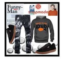 """snapmade"" by lana-442 ❤ liked on Polyvore featuring men's fashion and menswear"