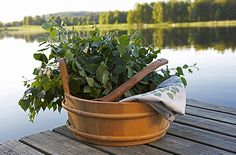 Birch twigs for sauna, Finland. Vihta or Vasta is in english birch whisk used in sauna. The use of Vihta or Vasta is slap repeatedly our bodies, but first you set it on the water and then you start slapping. That aids your circulatory system, cleans and refresh your skin and it's also like a massage.