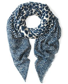Hearts of wool scarf in Navy by BeckSöndergaard