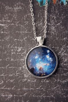 """""""Little Piece of the Galaxy"""" Necklace $25 http://dearstellajewellery.storenvy.com/products/1257166-little-piece-of-the-galaxy-necklace"""