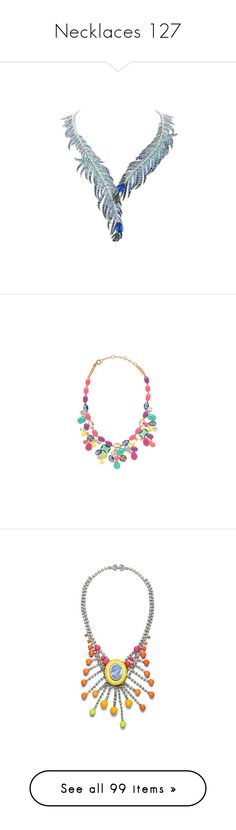"""""""Necklaces 127"""" by singlemom ❤ liked on Polyvore featuring necklaces, jewelry, accessories, colar, jewels, collares, colares, green, joyas and jew"""
