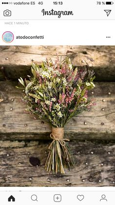 I'm totally cool with super small/simple bouquets FYI - madison Bridesmaid Flowers, Bridal Flowers, Wedding Bouquets, Foto Wedding, Dream Wedding, Flower Factory, Dried Flowers, Garden Wedding, Floral Arrangements