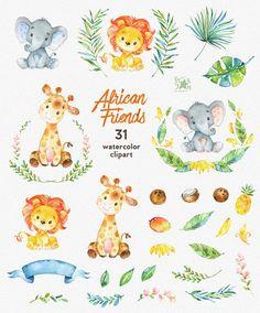 Este conjunto de imágenes prediseñadas de animales africanos es justo lo necesitaba para la perfecta invitaciones, manualidades, productos de papel, decoraciones para fiestas, imprimibles, tarjetas de felicitación, carteles, papelería, álbumes de recortes, pegatinas, camisetas, ropa de