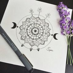 Most popular tags for this image include: drawing, art, flowers, black and mandala Mandala Art, Mandala Doodle, Tangle Doodle, Under Your Spell, Creation Art, Compass Tattoo, Doodle Art, Art Inspo, Painting & Drawing