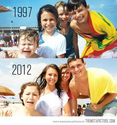 I love this idea. Recreate old pictures!
