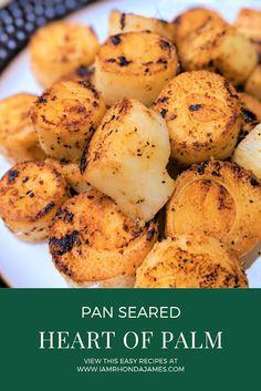Pan Seared Heart of Palm Vegan Vegetarian, Vegetarian Recipes, Healthy Recipes, Paleo, Whole Food Recipes, Cooking Recipes, Easy Cooking, Vegan Fish, Base Foods